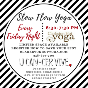 U Can-Cer Vive Slow Flow Yoga